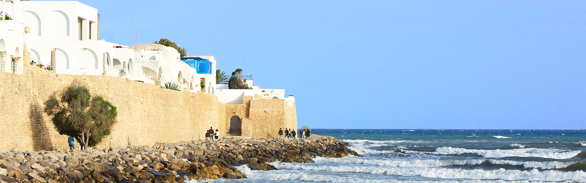 Hamammet coast line in Tunisia